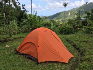 Tent rental for camping guests and WorkAway in Dominica.