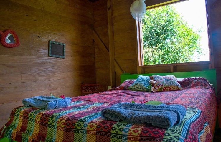 Queen Cabin for hotel guests and WorkAway in Dominica.