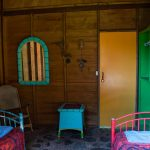 Twin Cabin bedroom for hotel guests and WorkAway in Dominica.